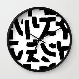Fragments of Rhizome Paths no. 2 Wall Clock
