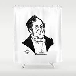 Gioachino Rossini Shower Curtain