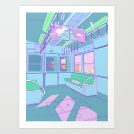 Train to Tokyo Art Print