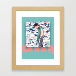 NCT 2018 - JOHNNY Framed Art Print