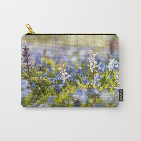 Spring flower meadow - Colorful flowers -floral on #Society6 Carry-All Pouch