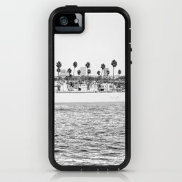 Vintage Newport Beach Print {4 of 4} | Photography Ocean Palm Trees B&W Tropical Summer Sky iPhone Case