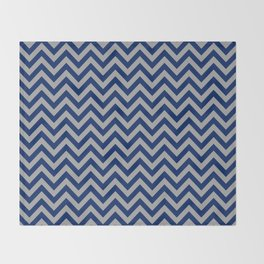 Chevron Pattern - navy and grey - more colors Throw Blanket