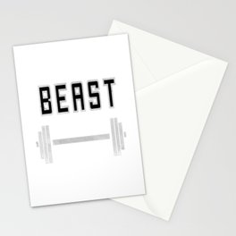 I am a beast at the gym Stationery Cards