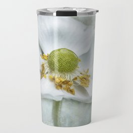 Anemone with Textured Background Travel Mug