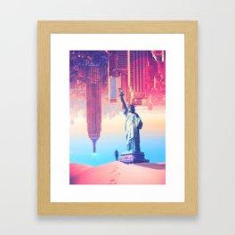 Statue of Liberty in the desert by GEN Z Framed Art Print