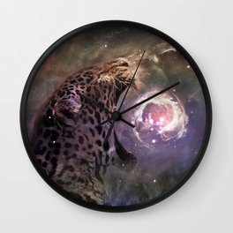 Jaguar Nebula Wall Clock