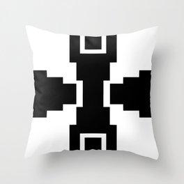 black and white pyramid Throw Pillow