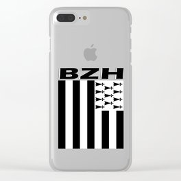 BZH Brittany / Bretagne Flag France Clear iPhone Case