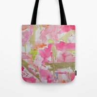 moulin rouge Tote Bags featuring Rouge by Limezinnias Design