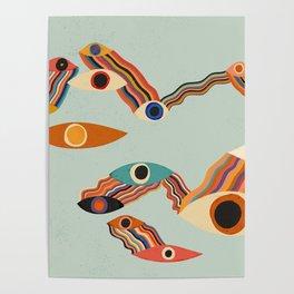 Kosmische Augen Poster