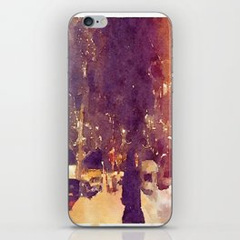 Snowy Night iPhone Skin