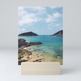 Summer in Donostia San Sebastian Spain Beach Mini Art Print
