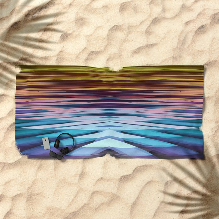 Water and Earth tones in an Abstract Beach Towel
