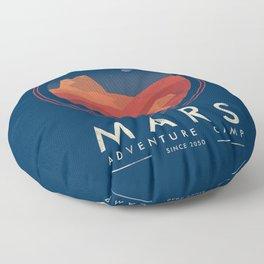 Mars adventure camp Floor Pillow