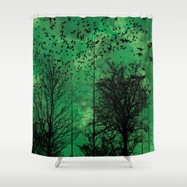 Turning Green Shower Curtain