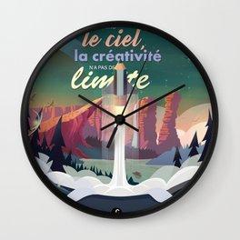 Comme le ciel Wall Clock