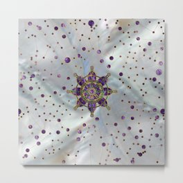 Dharma Wheel  - Dharmachakra Metal Print