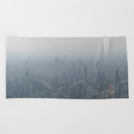 fade to gray (Shanghai) Beach Towel