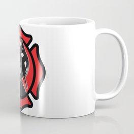 Firefighter emblem design with fireman wearing helmet Coffee Mug
