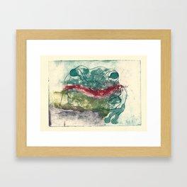 Toad Kisses  Framed Art Print