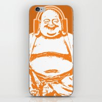 buddah iPhone & iPod Skins featuring Buddah Beats by ALLGOLD Creative