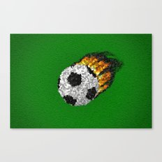 Great Ball Of Fire - Mosaic Style Canvas Print