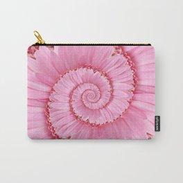 Pink Gerbera Spiral Flower Droste Effect  Carry-All Pouch