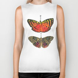 Vibrant Butterflies - red & yellow with tiger stripes, brown with blue eyes Biker Tank