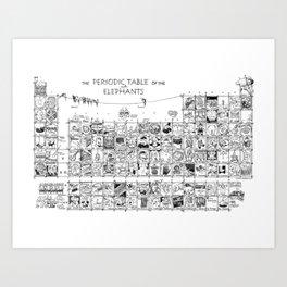 Periodic Table of the Elephants Art Print