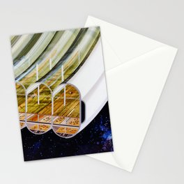 Agricultural modules on a Bernal sphere Stationery Cards