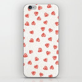 Sparkly hearts iPhone Skin