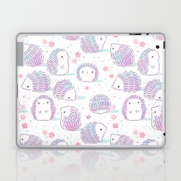 Spring Hedgehog Pattern Laptop & iPad Skin