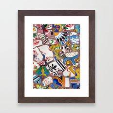 Gaudi tiles Barcelona Framed Art Print