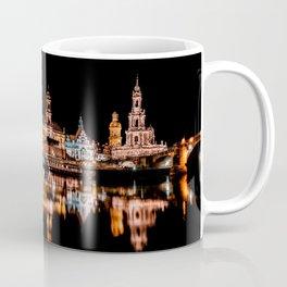 Dresden, Germany City Lights on the Saxony River Panorama Coffee Mug