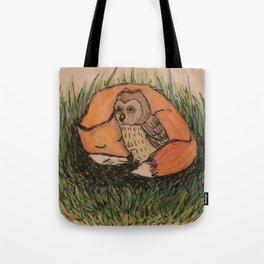 Fox & Owl Tote Bag
