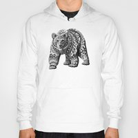 ornate Hoodies featuring Ornate Bear by BIOWORKZ