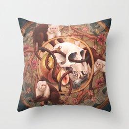 Capuchin Vanitas Throw Pillow