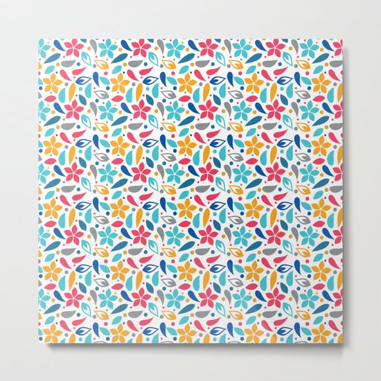 Colorful Lovely Pattern X Metal Print