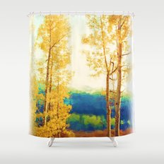 Faded Aspens Shower Curtain