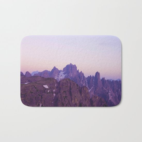 Mountains of Violet Bath Mat