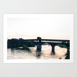 Beautiful view in the center of Pavia Art Print