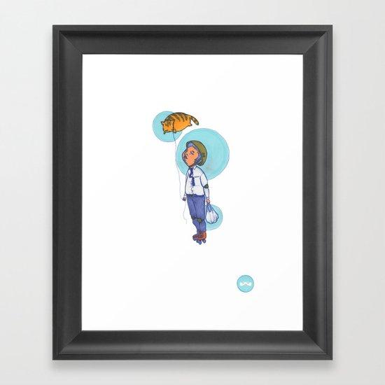 Topaz Dreaming. Framed Art Print
