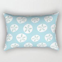 Sand Dollars Sea Urchin in Blue Rectangular Pillow