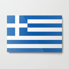 Flag of Greece Metal Print