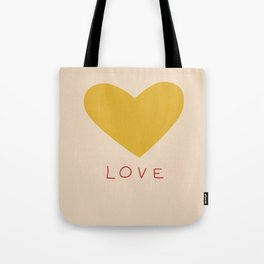 Wonky golden heart Tote Bag