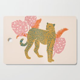 Pastel Tropical Cheetah Print Cutting Board