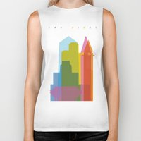 san diego Biker Tanks featuring Shapes of San Diego by Glen Gould
