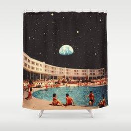 Lunar Pool Life Shower Curtain