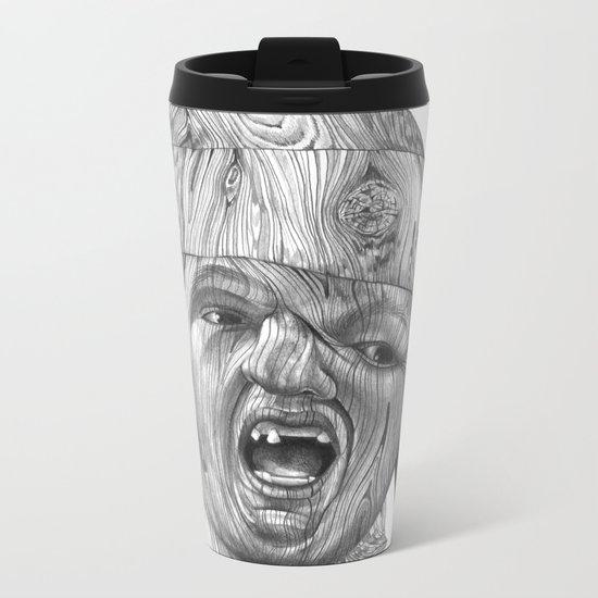 Wood Sloth Metal Travel Mug